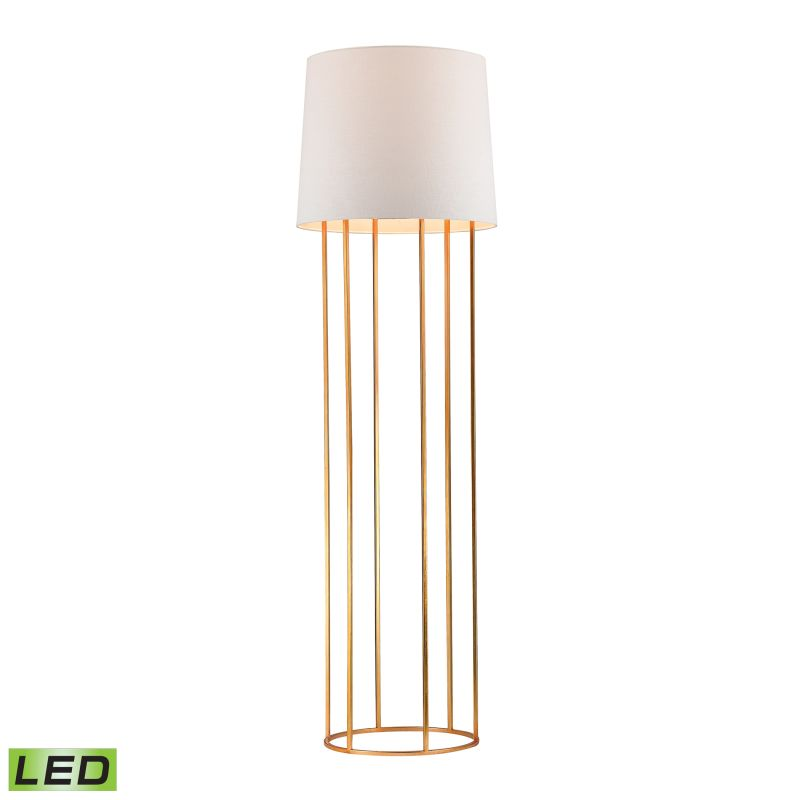 Dimond Lighting D2591-LED 1 Light LED Column Floor Lamp in Gold Leaf from the Ba