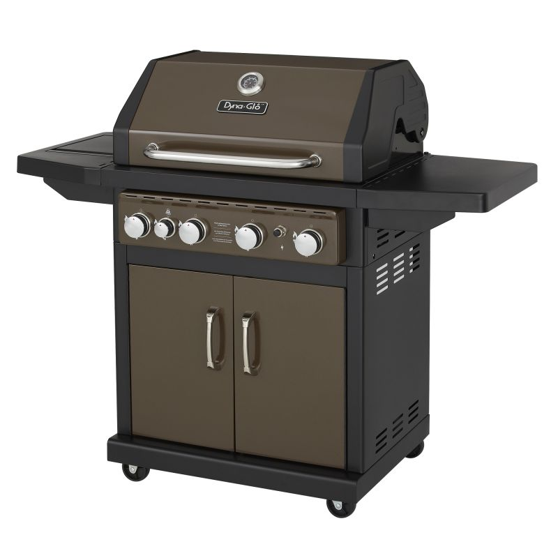 Dyna-Glo DGA480BSP 4-Burner 60,000 BTU Gas BBQ Grill with Side Burner and Electr photo