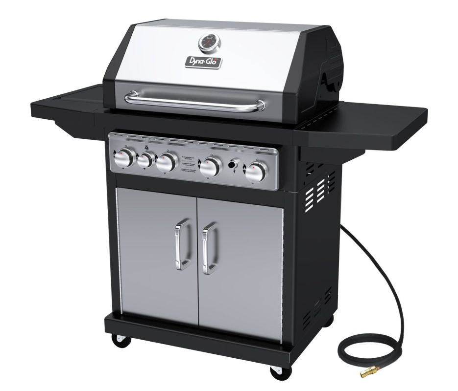 Dyna-Glo DGA480SSN-D 4-Burner 60,000 BTU Natural Gas Grill with Cast Iron Grates photo
