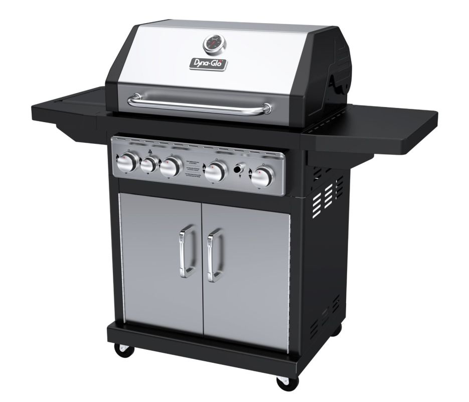 Dyna-Glo DGA480SSP-D 4-Burner 60,000 BTU Propane Gas Grill with Cast Iron Grates photo