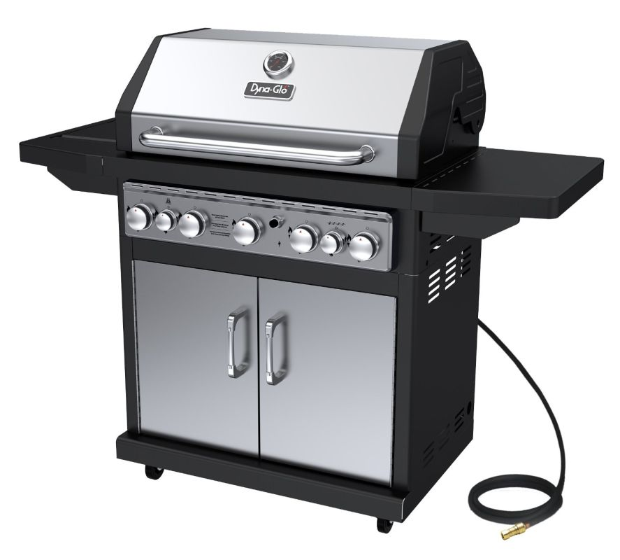 Dyna-Glo DGA550SSN-D 5-Burner 79,000 BTU Natural Gas Grill with Side Burner and photo