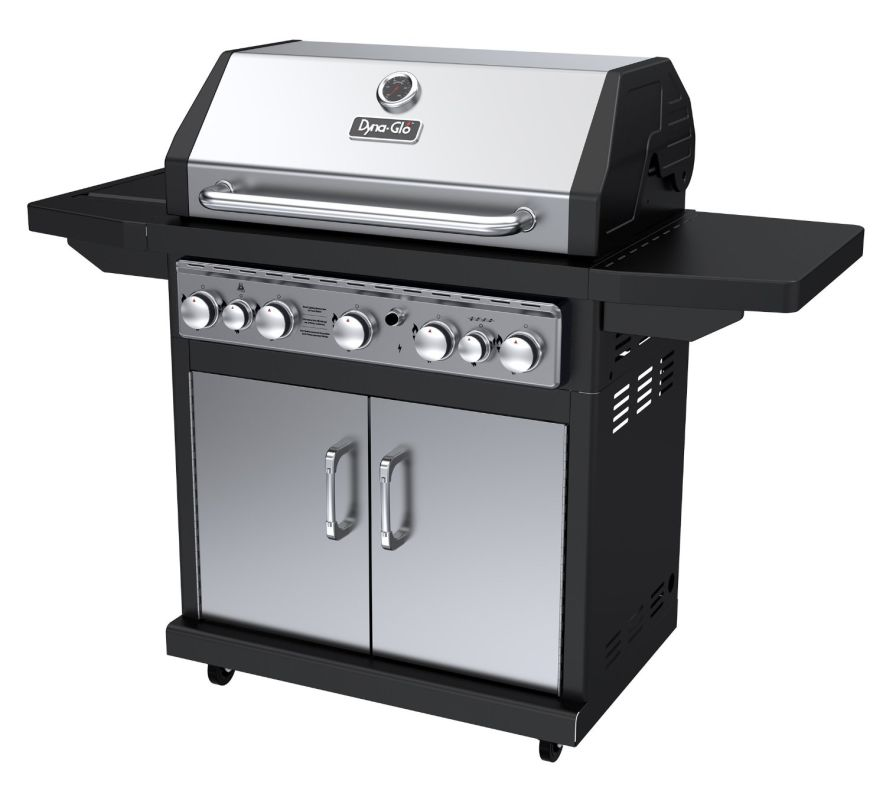 Dyna-Glo DGA550SSP-D 5-Burner 79,000 BTU Propane Gas Grill with Side Burner and photo