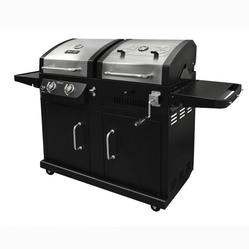 Dyna-Glo DGB730SNB-D 2-Burner 24,000 BTU Gas and Charcoal BBQ Grill with Adjusta photo
