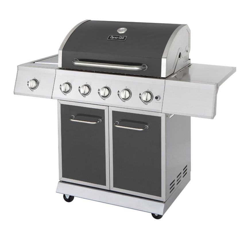 Dyna-Glo DGE530GSP-D 5-Burner 60,000 BTU Propane Gas Grill with Side Burner and photo