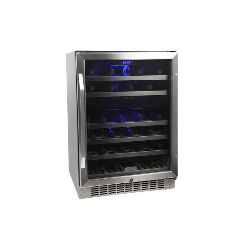 EdgeStar CWR461DZ 24 Inch Wide 46 Bottle Built-In Wine Cooler with Dual Cooling photo