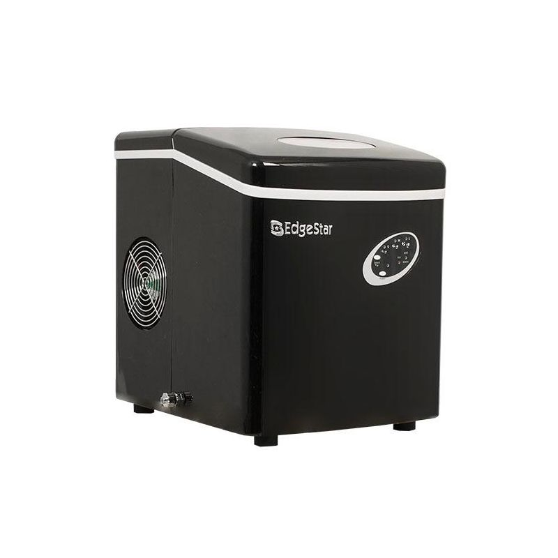 EdgeStar IP210 12 Inch Wide 2.5 Lbs. Capacity Portable Ice Maker with 28 Lbs. Da photo