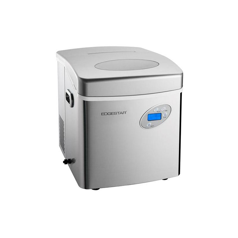 EdgeStar IP250 17 Inch Wide 2.6 Lbs. Capacity Portable Ice Maker with 48 Lbs. Da photo