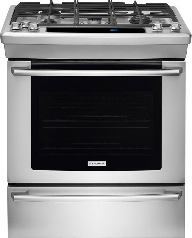 Electrolux EW30GS80RS 30 Inch Wide Slide-In Natural Gas Range with Luxury Glide photo