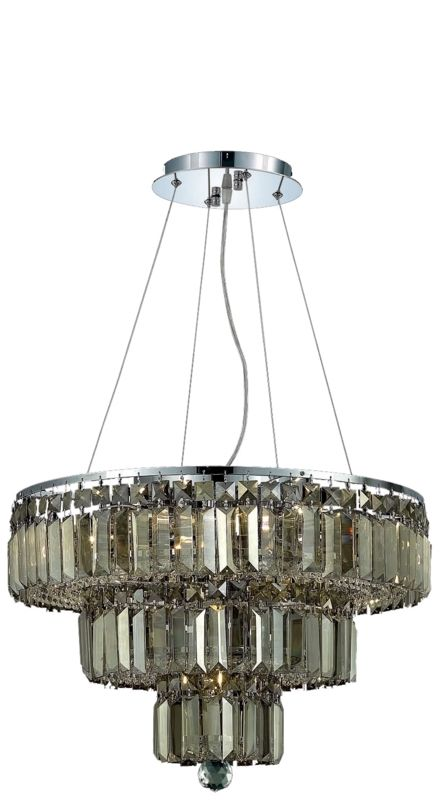 UPC 842814130050 product image for Elegant Lighting 2036D20C-GT Maxime 9-Light, Three-Tier Crystal Chandelier, Fini | upcitemdb.com
