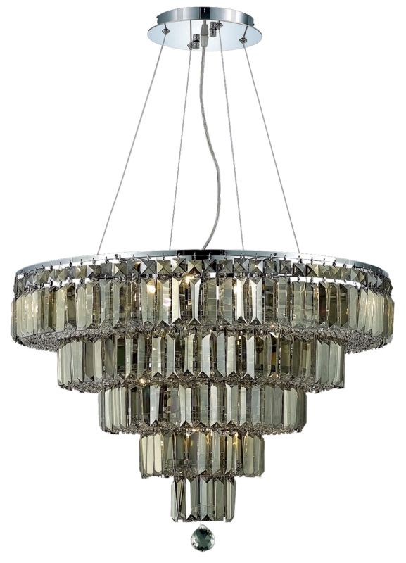 UPC 842814130074 product image for Elegant Lighting 2036D26C-GT Maxime 14-Light, Five-Tier Crystal Chandelier, Fini | upcitemdb.com