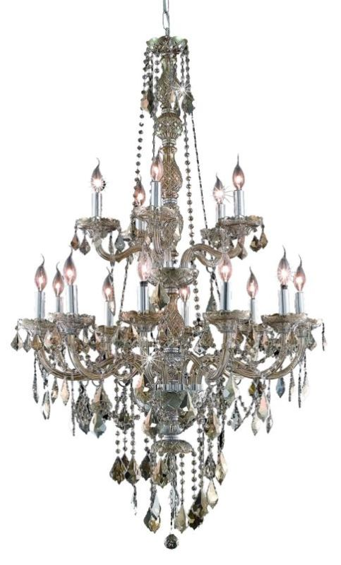 UPC 842814130357 product image for Elegant Lighting 7815G33GT-GT Verona 15-Light, Two-Tier Crystal Chandelier, Fini | upcitemdb.com