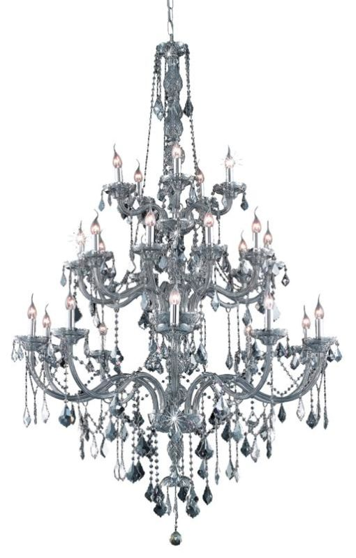 UPC 842814130432 product image for Elegant Lighting 7825G43SS-SS Verona 25-Light, Three-Tier Crystal Chandelier, Fi | upcitemdb.com