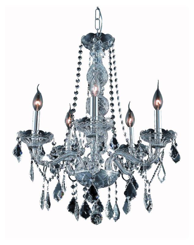 UPC 842814130494 product image for Elegant Lighting 7855D21SS-SS Verona 5-Light, Single-Tier Crystal Chandelier, Fi | upcitemdb.com