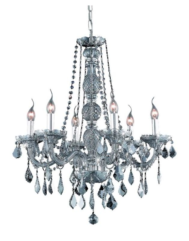 UPC 842814130555 product image for Elegant Lighting 7856D24SS-SS Verona 6-Light, Single-Tier Crystal Chandelier, Fi | upcitemdb.com