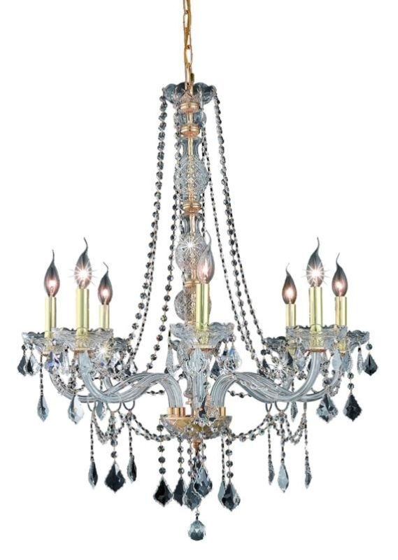 UPC 842814129450 product image for Elegant Lighting 7858D28G Verona 8-Light, Single-Tier Crystal Chandelier, Finish | upcitemdb.com