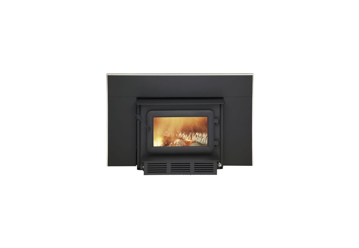 Flame FL-061 75000 BTU 2.3 Cubic Ft Wood Burning Insert with 130 CFM Heat-Activanohtin