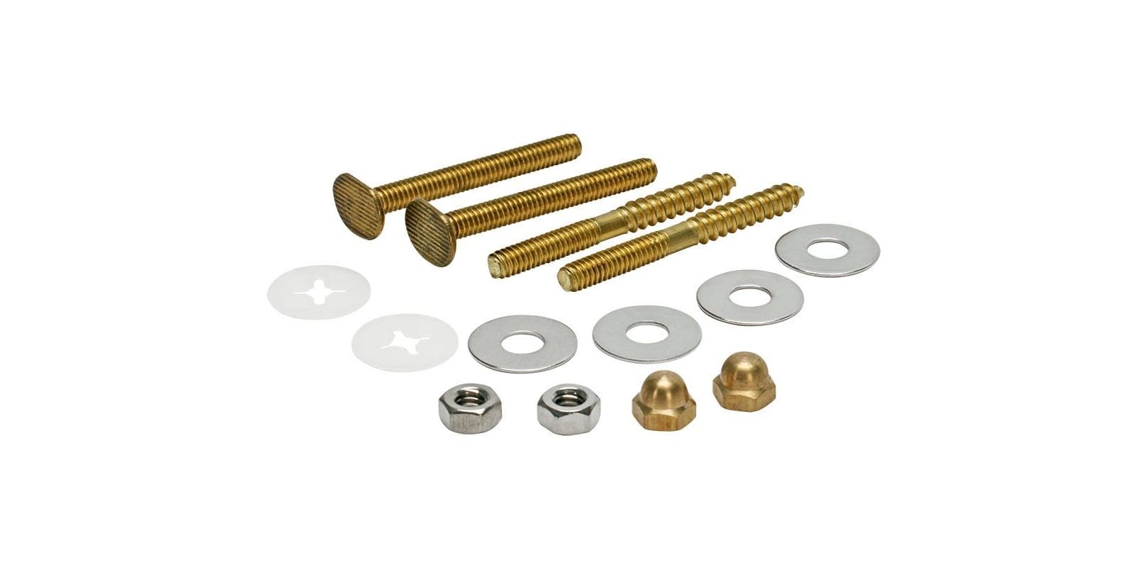 Fluidmaster 7114 Toilet Bowl Bolts with Nuts and Washers photo