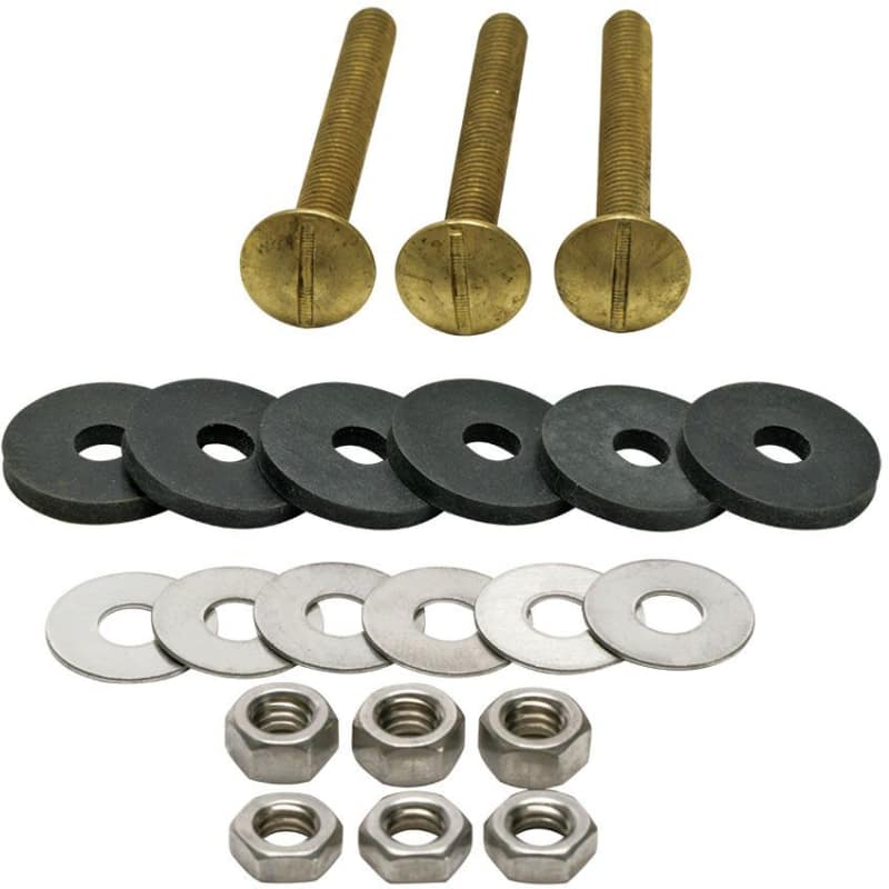 Fluidmaster 6105 Tank to Bowl Bolts Set of 3 with Washers and Nuts photo