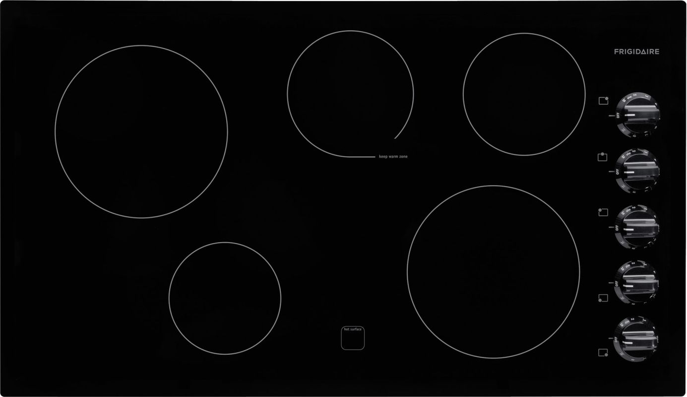 Frigidaire FFEC3624P 36 Inch 5 Burner Electric Smoothtop Cooktop with Extra-Larg photo