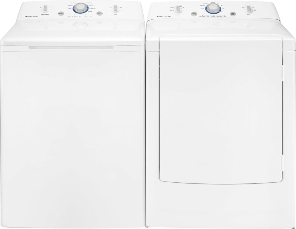 Frigidaire FFRE1001PW-FFTW1001PW Front Load Washer and Dryer Pair - 3.4 Cu. Ft. photo