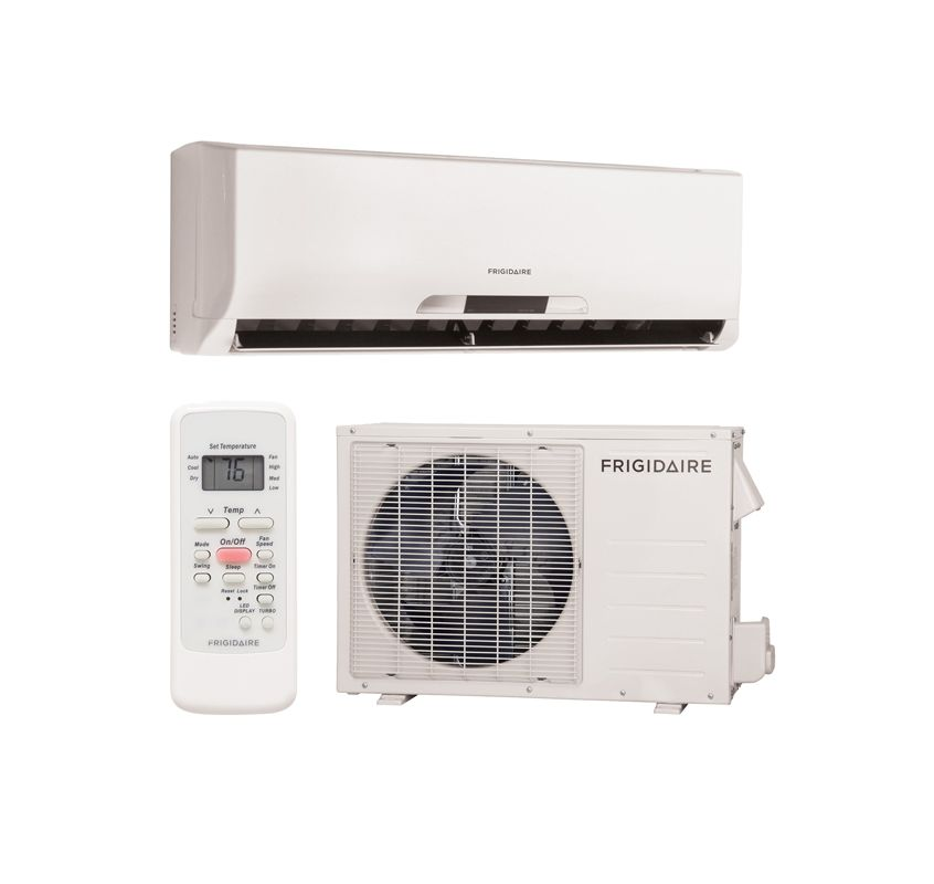 frigidaire frs093ls1 white cool only frigidaire frs093ls1 minisplit ductless air conditioner. Black Bedroom Furniture Sets. Home Design Ideas