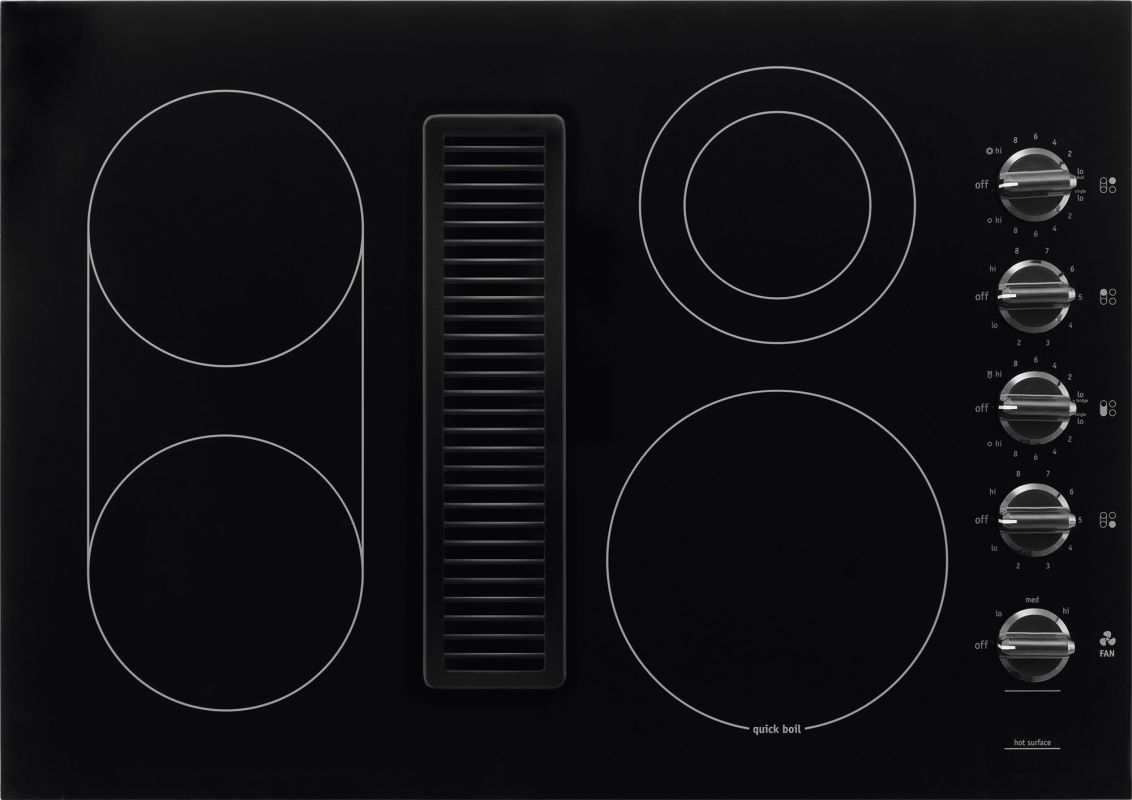 30 Inch Downdraft Electric Cooktop ~ Electric downdraft cooktop