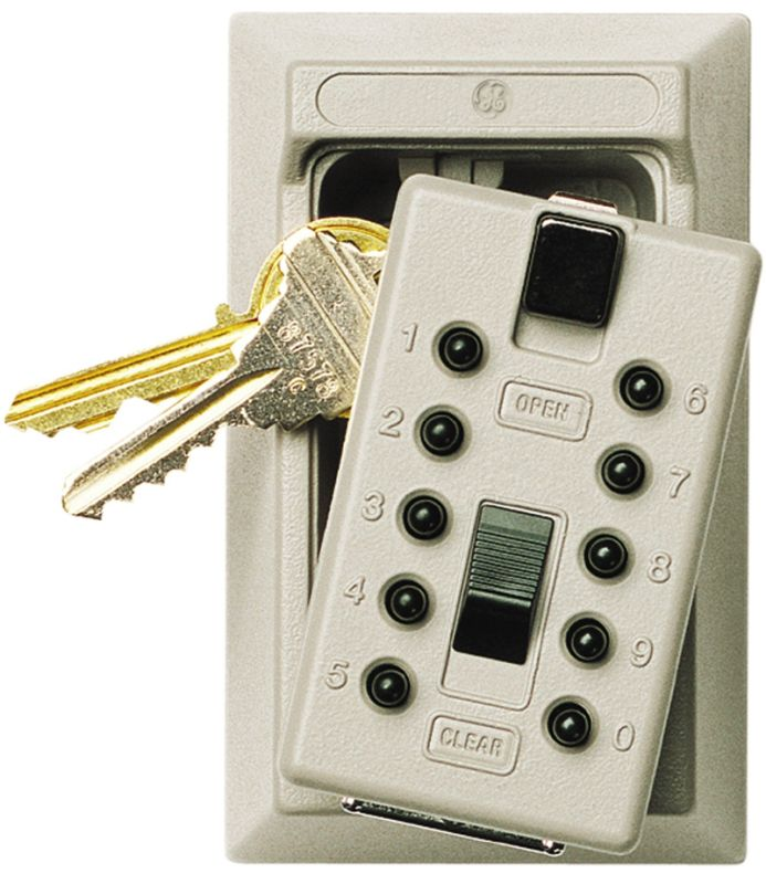 GE Security 001409 KeySafe Original 5 Key Keysafe with Pushbutton Combination photo