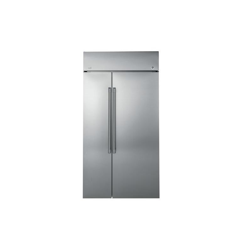 GE CSB48W 48 Inch Wide 29.6 Cu. Ft. Built-In Side By Side Refrigerator with LED photo