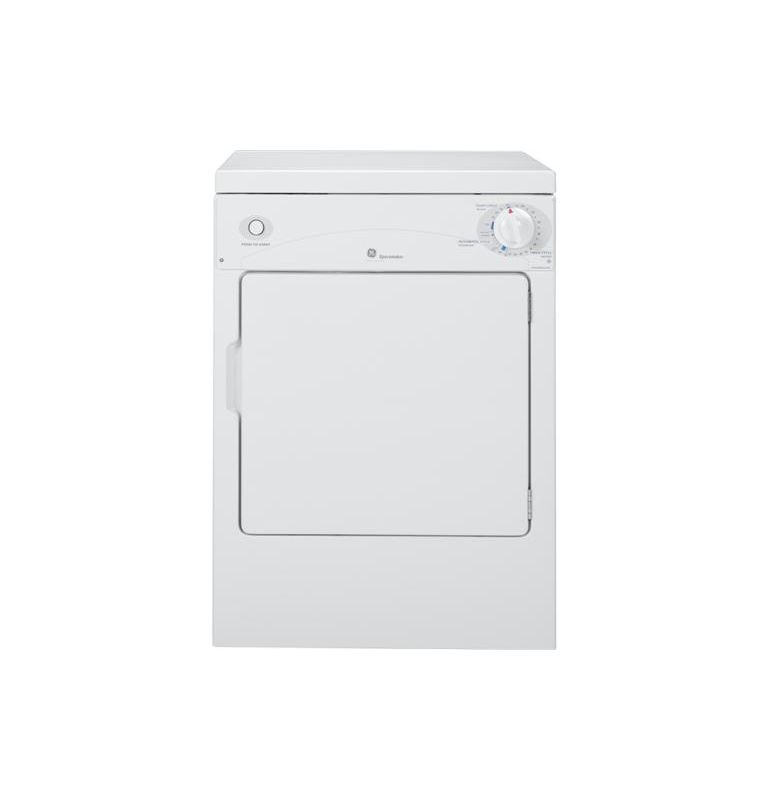 GE DSKP333EC 24 Inch 3.6 Cu. Ft. Spacemaker Portable 120 Volt Electric Dryer photo