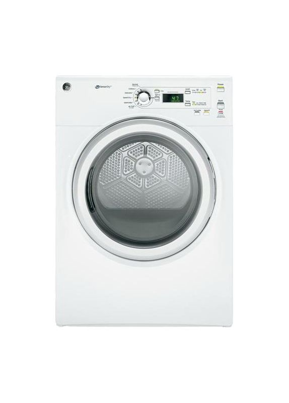 GE GFDN110ED 7.0 Cu. Ft. Capacity DuraDrum Electric Dryer with HE SensorDry photo
