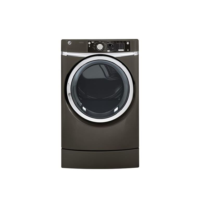 GE GFDR275EH 28 Inch Wide 8.1 Cu. Ft. Electric Dryer with RightHeight Pedestal photo