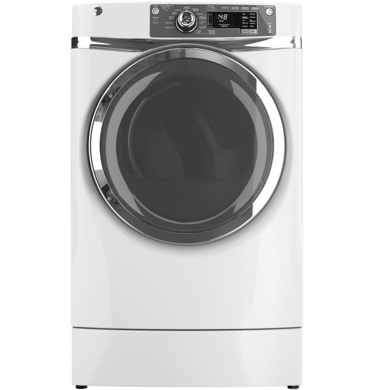 GE GFDR480EF 8.3 Cu. Ft. RightHeight Design Front Load Electric Dryer with Steam photo