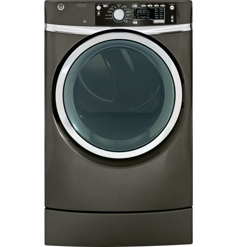 GE GFDR485EF 8.3 Cu. Ft. RightHeight Design Front Load Electric Dryer with Steam photo