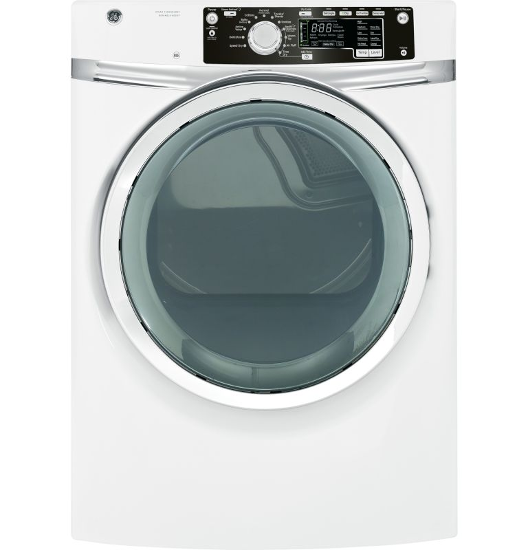 GE GFDS260EF 8.1 Cu. Ft. Front Load Electric Dryer with Detangle Assist and Stea photo