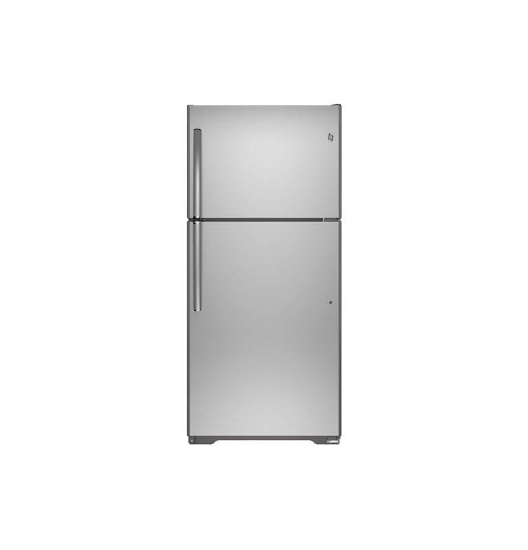 GE GIE18ISH 29-1/2 Inch 18.2 Cu. Ft. Top Freezer Refrigerator with Adjustable Gl photo