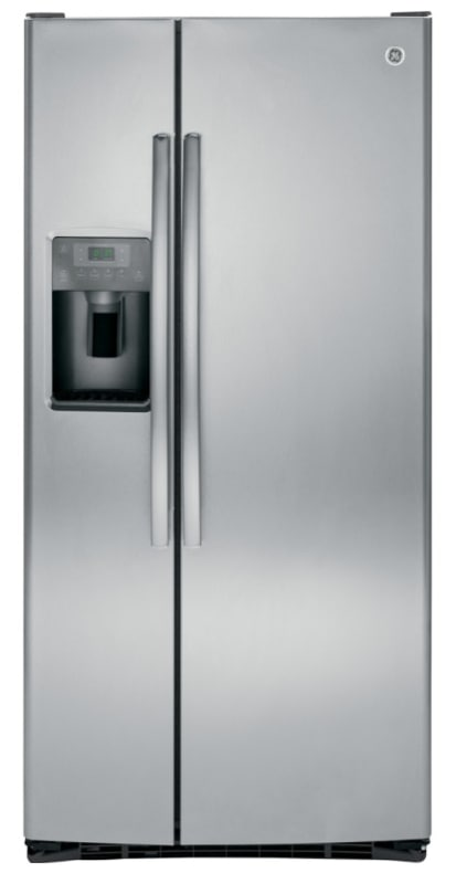 GE GSS23GK 33 Inch Wide 23.2 Cu. Ft. Side by Side Refrigerator with Arctica Ice photo