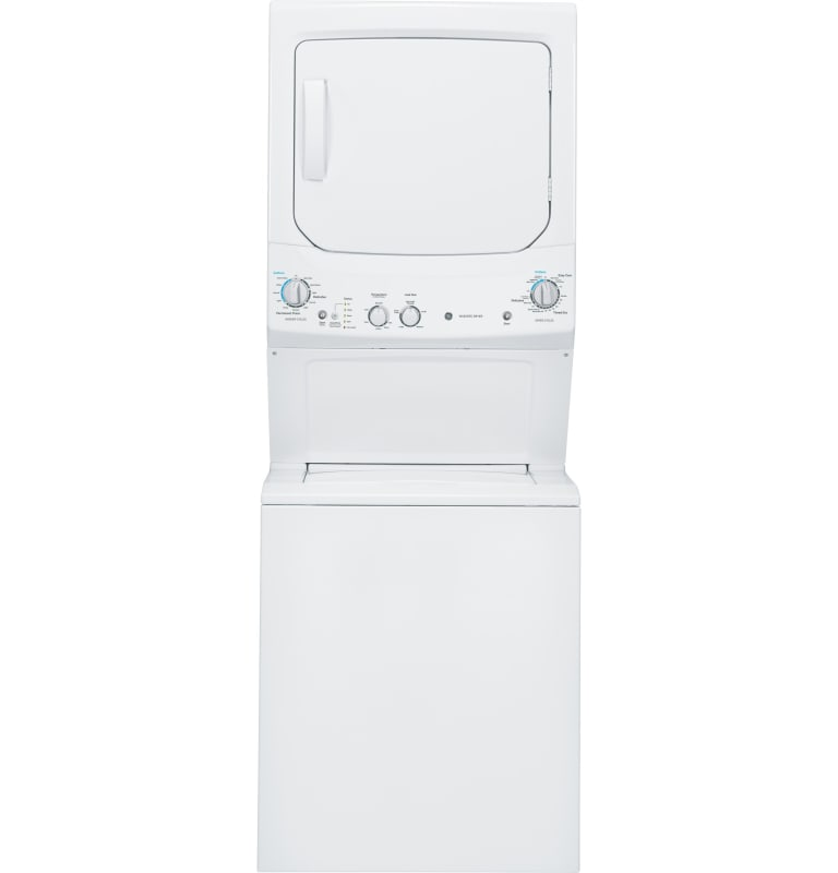 GE GUD27ESM 27 Inch Wide 3.2 Cu. Ft. Washer and 5.9 Cu. Ft. Electric Dryer Combo photo