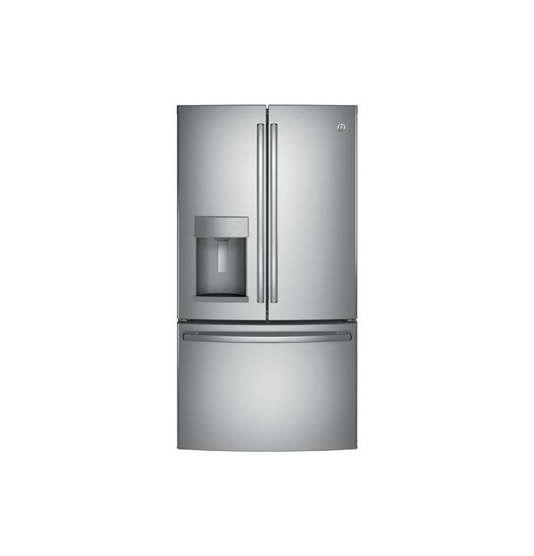 GE GYE22H 36 Inch 22.2 Cu. Ft. Counter Depth French Door Refrigerator with Showc photo