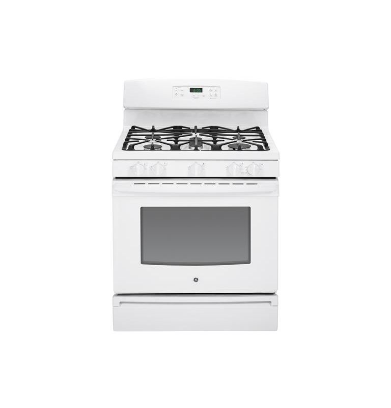 GE JGBS65 30 Inch 5.0 Cu. Ft. Gas Range with Oval Center Burner photo