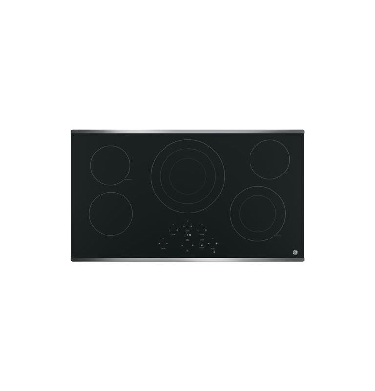 GE JP5036 36 Inch Wide Built-In Electric Cooktop with Power Boil Element photo