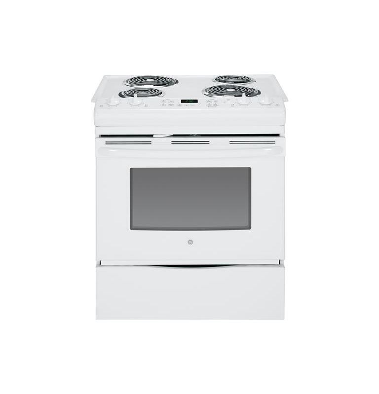 GE JS250 30 Inch 4.4 Cu. Ft. Slide-In Electric Range with Dual Element Bake photo