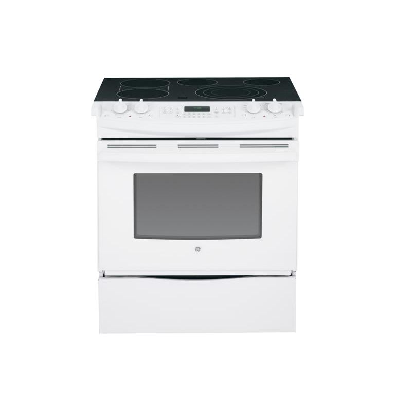 GE JS750 30 Inch 4.4 Cu. Ft. Slide-In Electric Range with True European Convecti photo