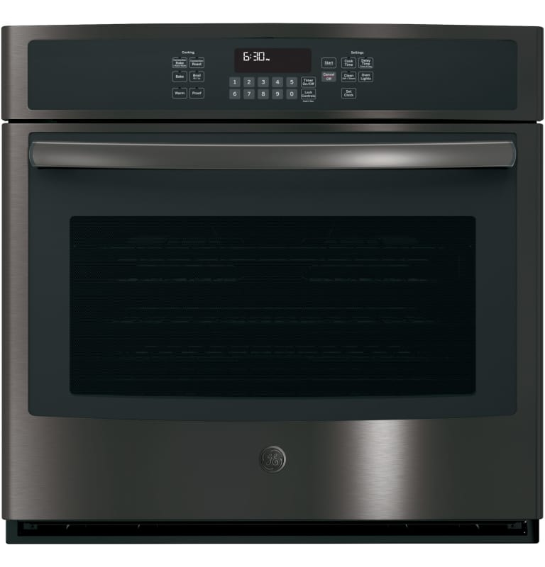 GE JT5000 30 Inch Wide 5 Cu. Ft. Single Electric Oven with True European Convect -  JT5000BLTS