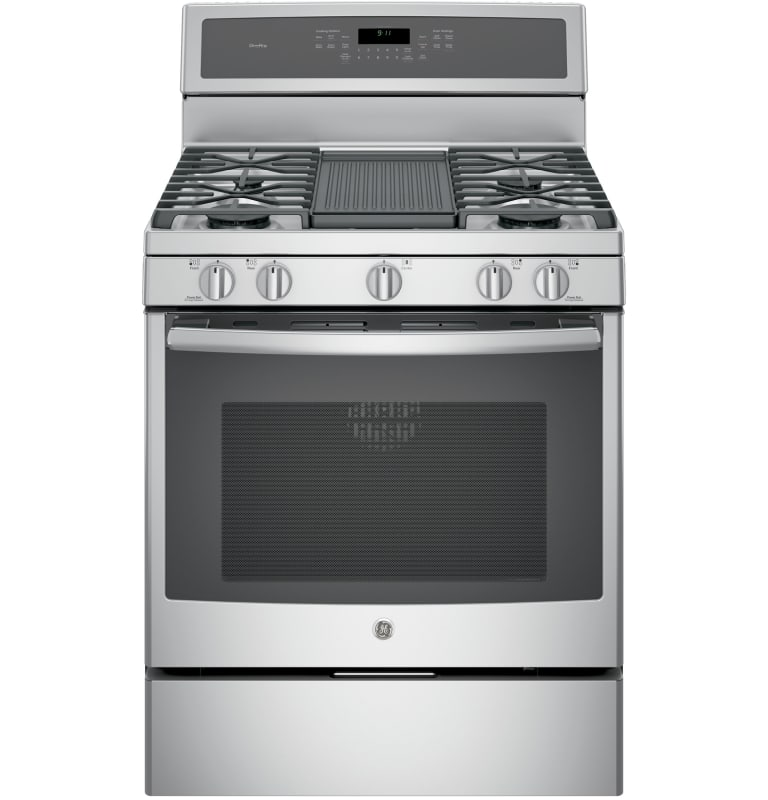 GE PGB911 30 Inch Wide 5.6 Cu. Ft. Free Standing Gas Range with Edge-to-Edge Coo photo