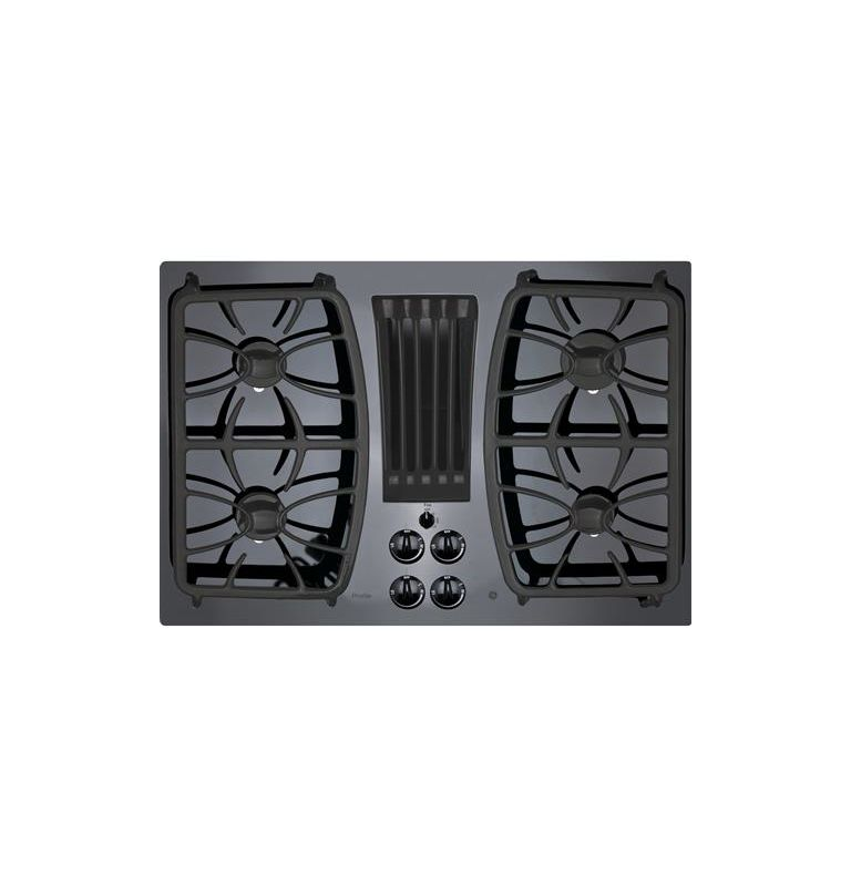 GE PGP9830 30 Inch Wide Built-In Gas Cooktop with Downdraft Exhaust photo