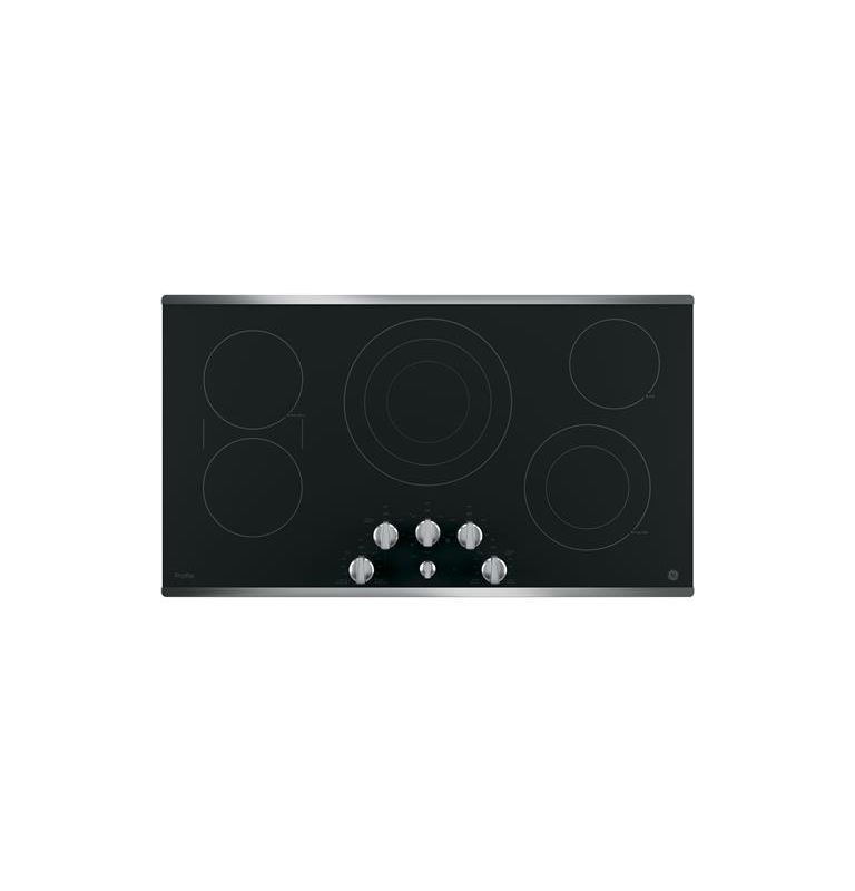 GE PP7036 36 Inch Wide Built-In Electric Cooktop with SyncBurner Control photo