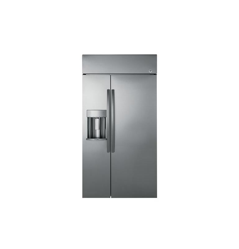GE PSB42Y 42 Inch Wide 24.3 Cu. Ft. Built-In Side By Side Refrigerator with Disp photo