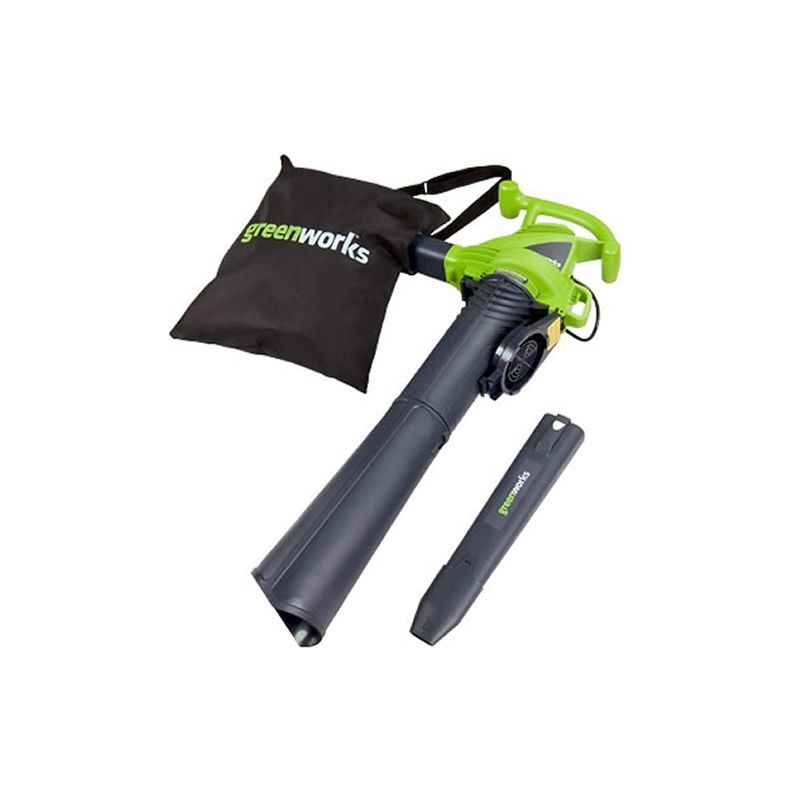GreenWorks 24022 12-Amp 150 / 230 MPH 2-Speed Electric Leaf Blower / Vacuum