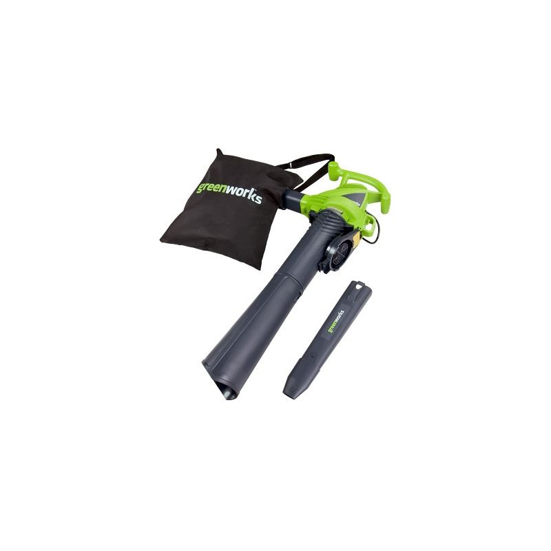 GreenWorks 24072 12-Amp Electric Leaf Blower/Vacuum with Variable Speed