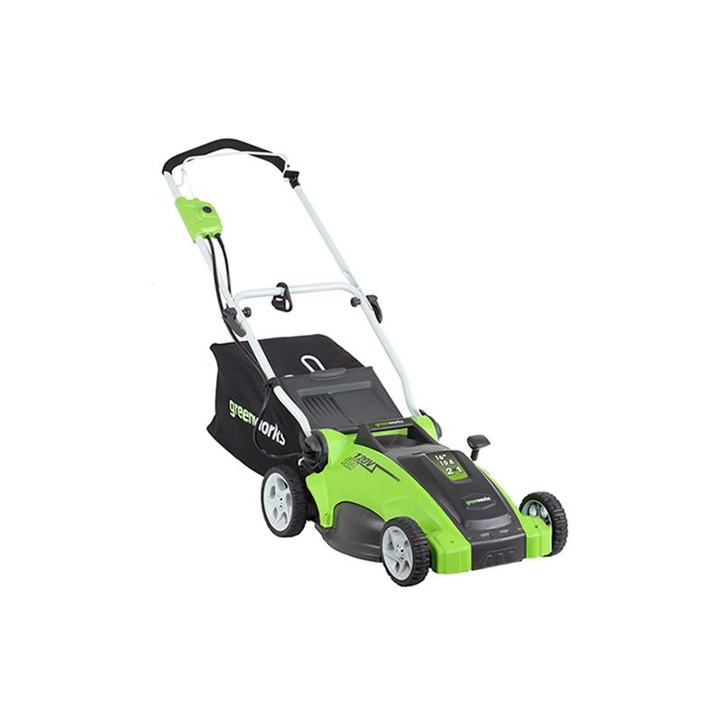 Greenworks 25012 12 Amp 2in1 Electric Push Lawn Mower With